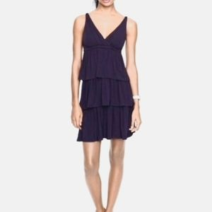 J.crew NWT navy blue tiered jersey dress M